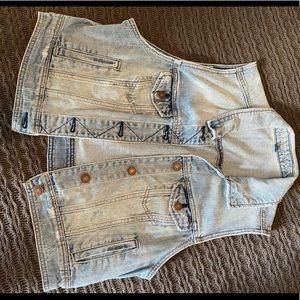 American Eagle Light Denim Jean Vest - XL